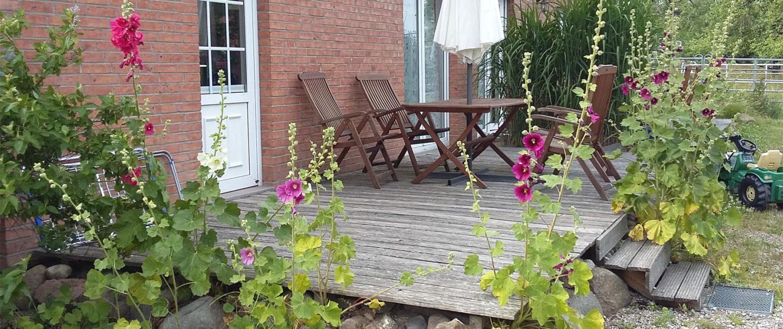 Ferienwohnung Hofblick - Terrasse