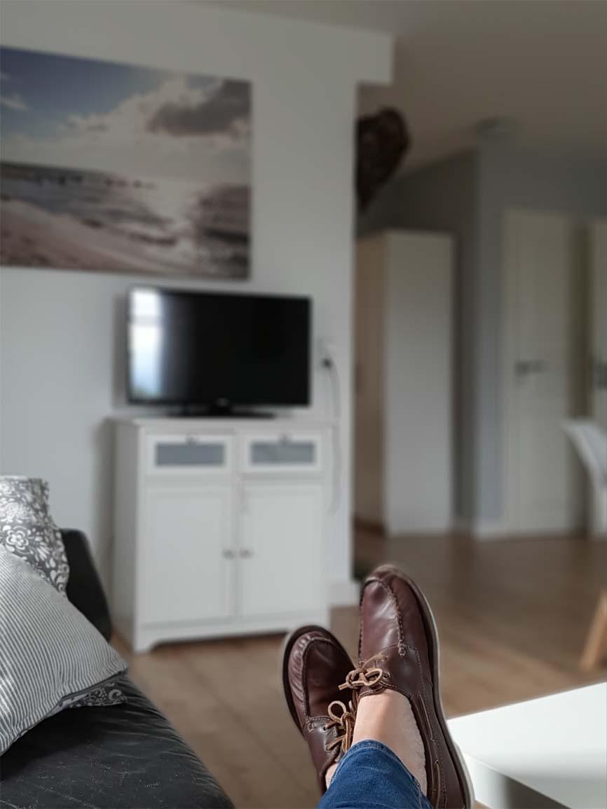 Ferienwohnung Weitblick - Wohnzimmer